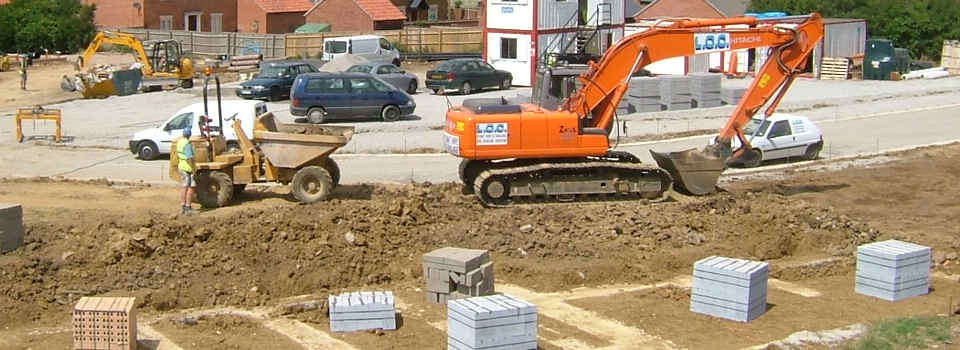Groundworks, Civil Engineering and Road building for New homes in Northampton