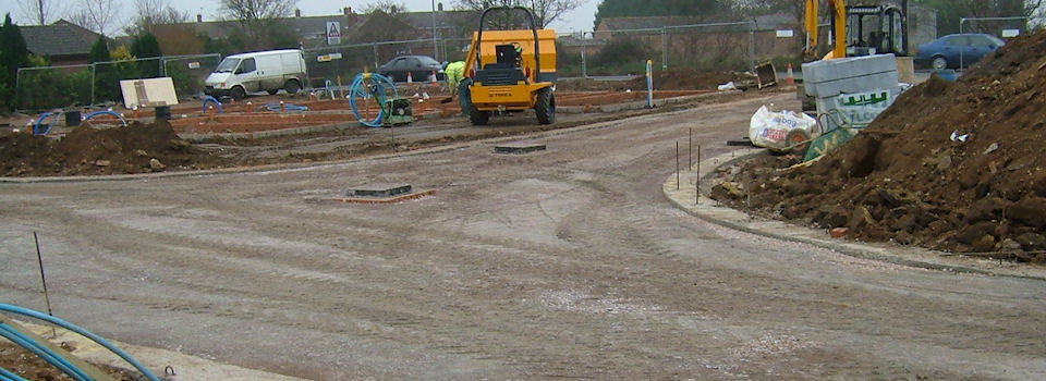 New adopted Road building with mains sewerage access, all lighting, street furniture and footpaths