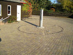 Driveway and Block Paving Newmarket with water feature and highlight lighting