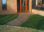Brickweave Path and new turfing
