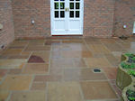 Natural Stone Patio Slabs with inset drainage