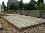 Soham, Cambridgeshire: Completed Foundations and Floor Slab