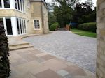 Fordham, Cembridgeshire: Patio stepped down to the Garden