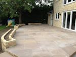 Fordham, Cembridgeshire: Patio with feature Planting Beds