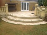 Rushden, Northamptonshire: New Patio with Matching Stone Balustrading