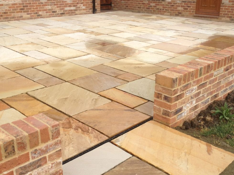 New Patio and retaining garden walls & Driveway and Patio Projects Newmarket Cambridge Suffolk